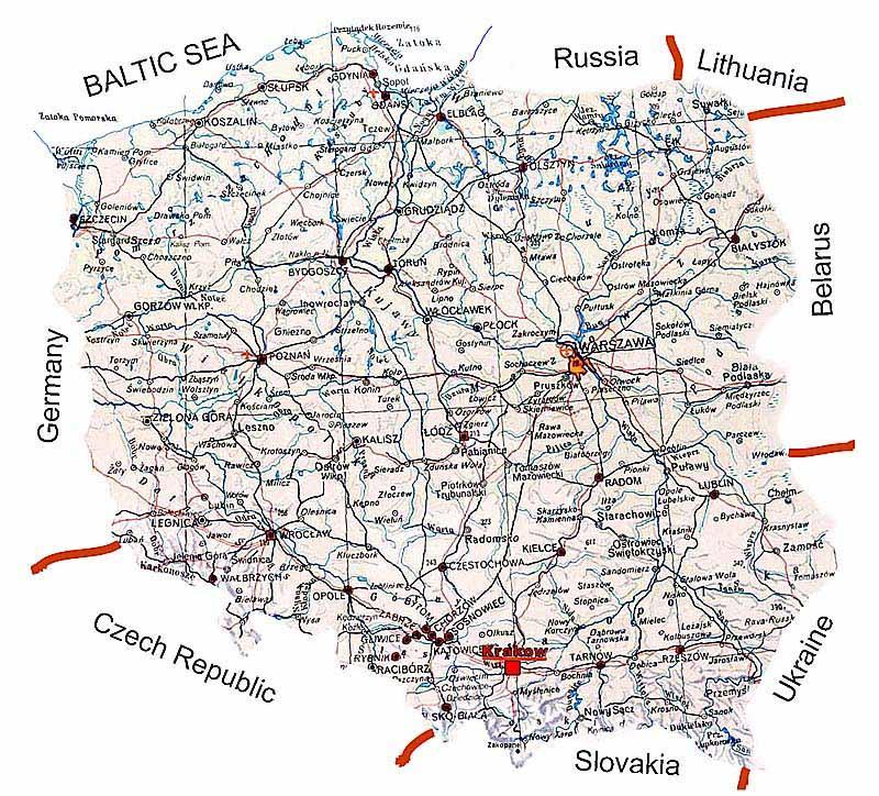 poljska mapa Poljska mapa ulica   karta Poljske ulici (Istočna Europa   Europa) poljska mapa